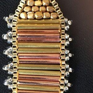 NWT Lucky Brand Two Tone Beaded Link Bracelet